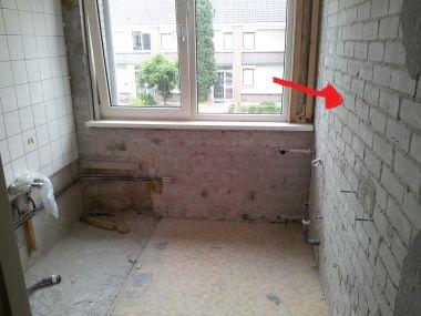 Is dit wel of geen steun muur met bouw tekeningen - Huidige badkamer ...